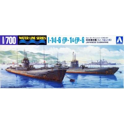 Japanese Submarine I-1 & I-6 ( 1/700 code 45916 )