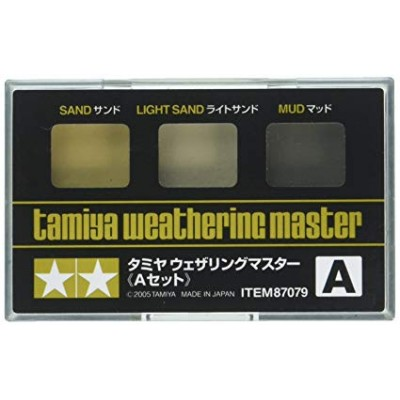 TAMIYA  Weathering Master A SET,3-Colors(Sand, Light Sand, Mud )