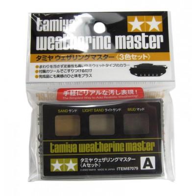 TAMIYA  Weathering Master A SET,3-Colors(Sand, Light Sand, Mud )