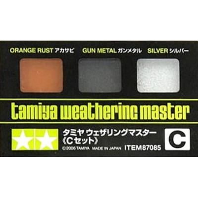 Tamiya Weathering Master Set C (Orange Rust, Gun Metal, Silver)