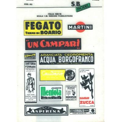 Italia 1939/45 insegne publicitarie 1/35