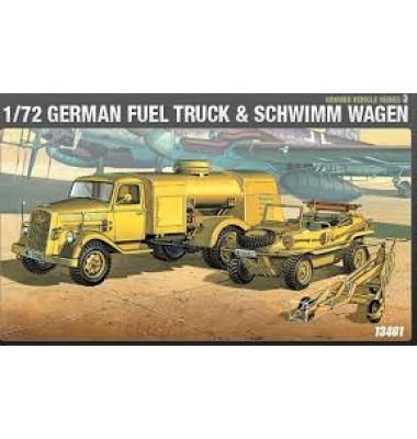 WWII German Fuel Truck and Schwimwagen ( 1/72 code 13401 )