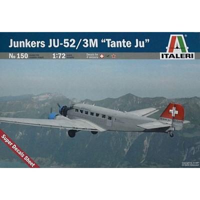 Junkers JU-52/3 M Tante Ju ( 1/72 code 0150 )