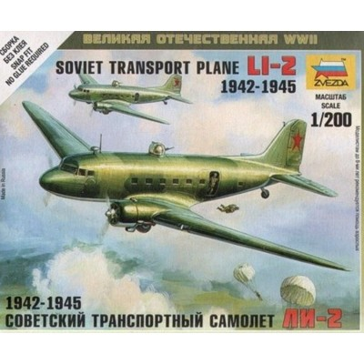 Li-2 Soviet transport plane ( 1/200 code 6140 )
