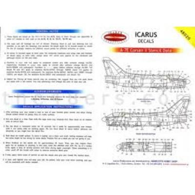 A-7E Corsair II Stencil Data ( 1/48 code 48020 )