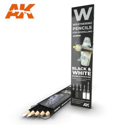 WATERCOLOR PENCIL SET BLACK AND WHITE
