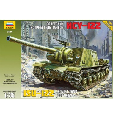 ISU-122 Soviet Self Propelled Gun ( 1/35 code 3534 )