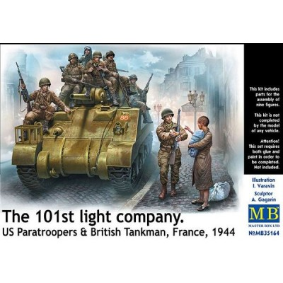 The 101st light company, US Paratroopers & British Tankman -9 figures ( 1/35 code 35164 )