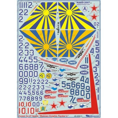 Decal Sukhoi Su-27 1.48, Russian Knights