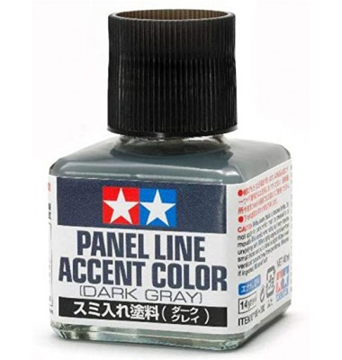Tamiya  Panel Line Accent Color - Dark Gray( CODE 87199 )