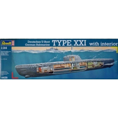 U-Boat Type XXI with Interior (  1/144  code 05078 )