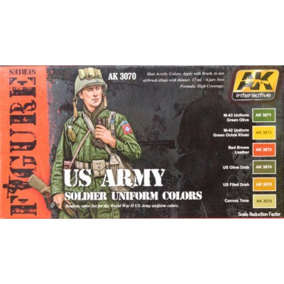 AK Interactive US Army Soldier Uniform Colors