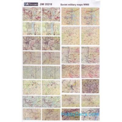 Topographic maps of WWII, Soviet & German ( 1/35 code 35218 )
