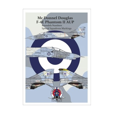 HAF F-4E AUP ROUNDELS AND NUMBERS Decal (1/32 code 32905 )