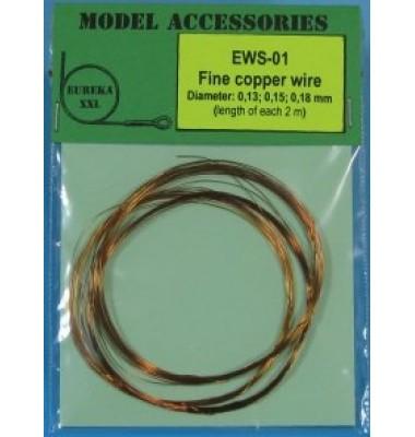 EWS-01 Fine copper wires 0.13 mm / 0.15 mm / 0.18 mm