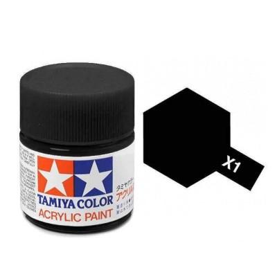X-1 Tamiya Acrylic Mini X-1 Black (Gloss) - 10ml