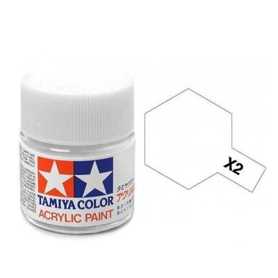 X-2 Tamiya Acrylic Mini X-2 White (Gloss) - 10ml