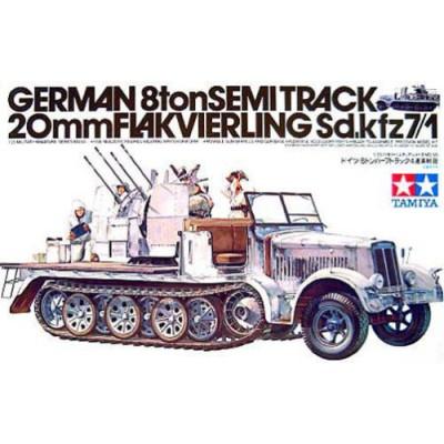 German 8ton Semitrack 20mm Flakvierling Sd.Kfz. 7/1  ( 1/35 code 35050 )