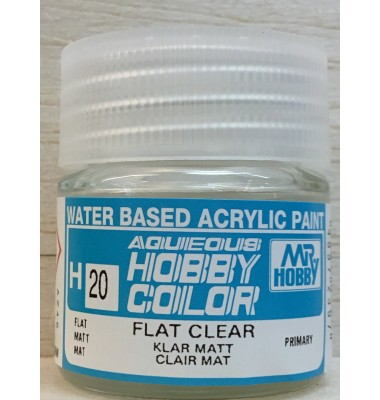 Gunze Aqueous Color Acrylic H20 Flat Clear