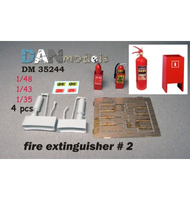 fire extinguisher #2 — 4 psc 1/35-1/48