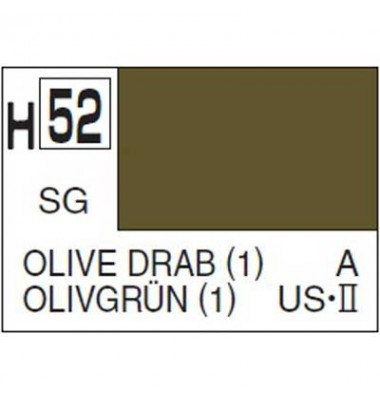 Gunze-hobby color H-052 Olive drab semi gloss