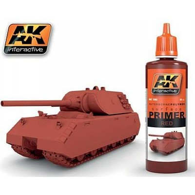 Red Acrylic Primer 60ml Bottle AK 180