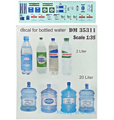 WATER BOTTLES & DECALS 1/35