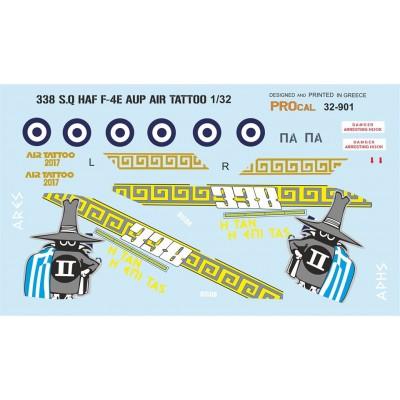 338 S.Q HAF F-4E AUP AIR TATTOO ( 1/72 Code 72901 )