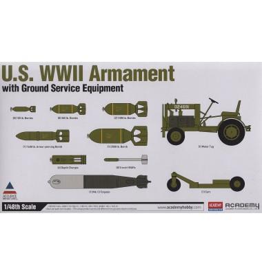U.S. WWII Armament w/Ground Service Equipment ( 1/48 code 12291 )