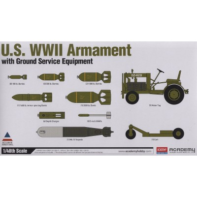 U.S. WWII Armament w/Ground Service Equipment ( 1/48 code 12291 )
