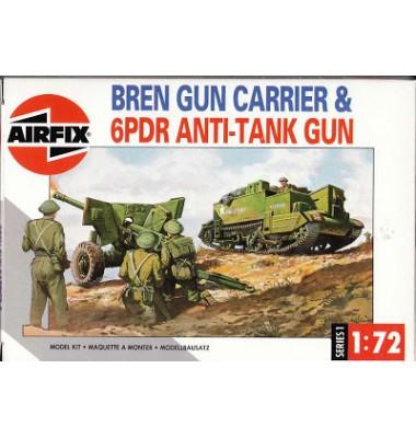 Bren Gun Carrier & 6PDR Anti-Tank Gun ( 1/72 code 01309 )