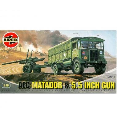 AEC Matador & 5.5 inch gun(1/76 code A01314 )