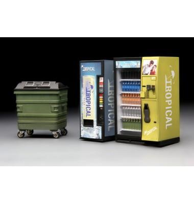 Vending Machine & Dumpster Set ( 1/35 code 018 )