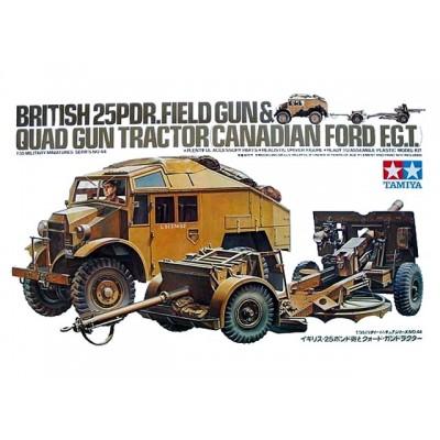 BRITISH 25PDR.FIELD GUN& QUAD GUN TRACTOR ( 1/35 code 35044 )