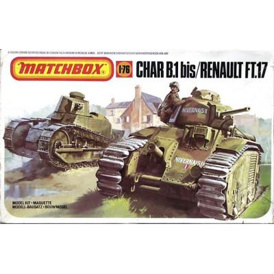 Char B.1 bis/Renault FT17 ( 1/76-1/72 code 176 )