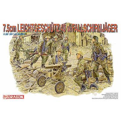 7.5cm Leichtgeschütz 40 w/Fallschirmjäger ( 1/35  code 6147 )