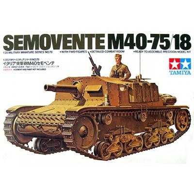 Italian Assault Gun Semovente M40-75/18 ( 1/35 code 35078 )