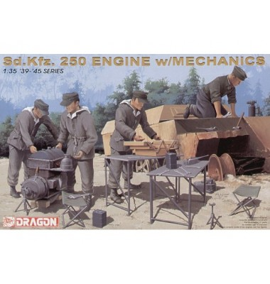 Sd.Kfz. 250 Engine w/Mechanics ( 1/35 code 6112 )