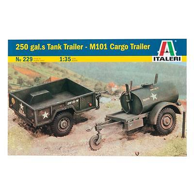 250 gallons tank trailer and M101 cargo trailer ( 1/35 code 229 )