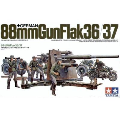 German 88mm Gun FlaK 36/37 ( 1/35 code 35017 )