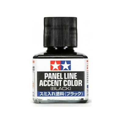 Tamiya 40ml Panel Line Accent Color Black