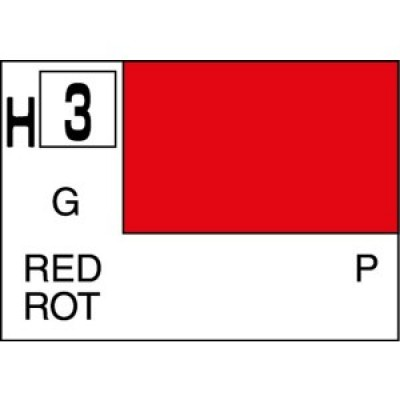 h003 Gunze-hobby color red H-3