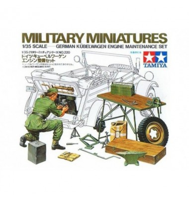 Kubelwagen engine maintenance set WW II (1/35 )