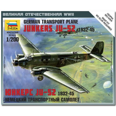 German transport plane Junkers Ju 52 1932-1945 ( 1/200  code 6139 )